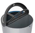 Corbeille Madrid Cervic avec anneaux support sacs-poubelles