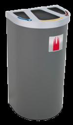 Exemple Nice multi-zone de recyclage 95 litres personalisé